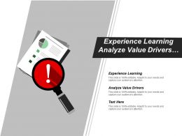 Experience Learning Analyze Value Drivers Set Measurement Targets Cpb