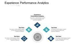 Experience Performance Analytics Ppt Powerpoint Presentation Summary Graphics Cpb