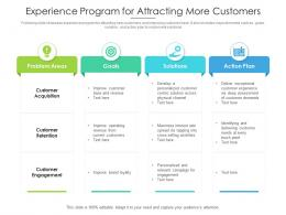 Experience Program For Attracting More Customer
