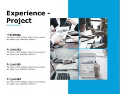Experience Project Ppt Powerpoint Presentation Outline Slide Portrait