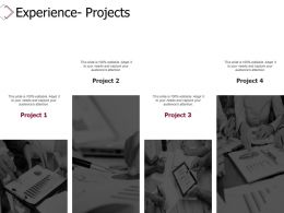 Experience Projects Agenda Ppt Powerpoint Presentation Infographics Rules
