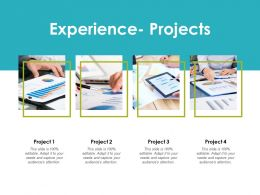 Experience Projects Opportunities Ppt Powerpoint Presentation Gallery Clipart Images