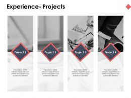 Experience Projects Opportunity Ppt Powerpoint Presentation Ideas Visuals
