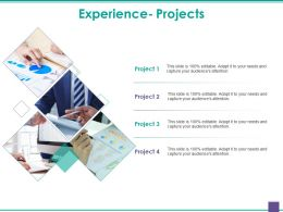 Experience Projects Powerpoint Slide Backgrounds