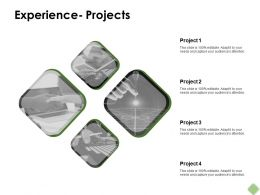 Experience Projects Technology Ppt Powerpoint Presentation Pictures Visual Aids