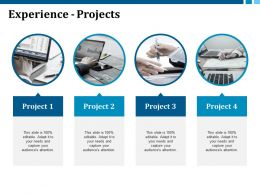 Experience Projects With Four Images Ppt Visual Aids Model