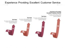 Experience Providing Excellent Customer Service Ppt Powerpoint Presentation Pictures Graphic Tips Cpb