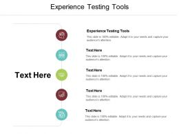 Experience Testing Tools Ppt Powerpoint Presentation Gallery Guide Cpb