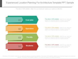 Experienced Location Planning For Architecture Template Ppt Sample