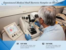 Experienced Medical Staff Bacteria Samples On Microscope