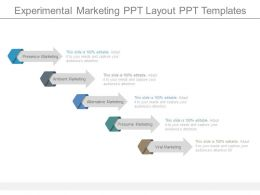 Experimental Marketing Ppt Layout Ppt Templates