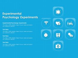Experimental Psychology Experiments Ppt Powerpoint Presentation Model Design Inspiration