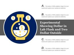 Experimental Showing Dollar In Lab Flask And Two Dollar Outside