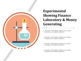 Experimental Showing Finance Laboratory And Money Generating