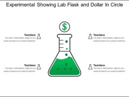 Experimental Showing Lab Flask And Dollar In Circle