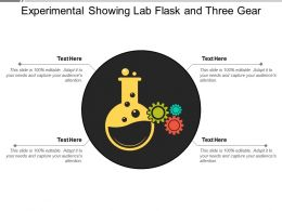Experimental Showing Lab Flask And Three Gear