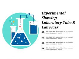 Experimental Showing Laboratory Tube And Lab Flask
