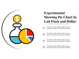 Experimental Showing Pie Chart In Lab Flask And Dollar