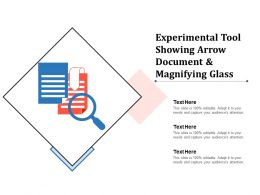 Experimental Tool Showing Arrow Document And Magnifying Glass