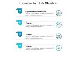 Experimental Units Statistics Ppt Powerpoint Presentation Portfolio Templates Cpb