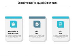Experimental Vs Quasi Experiment Ppt Powerpoint Presentation Background Image Cpb
