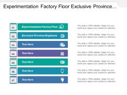 Experimentation Factory Floor Exclusive Province Engineers Methods Prevention