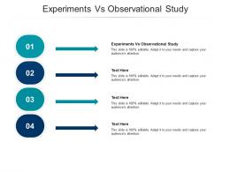 Experiments Vs Observational Study Ppt Powerpoint Presentation Show Files Cpb