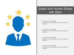 Expert Icon Human Shape With Stars