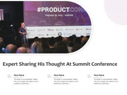 Expert Sharing His Thought At Summit Conference