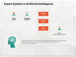 Expert System In Artificial Intelligence Human Ppt Powerpoint Presentation Visual Aids Portfolio
