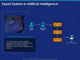 Expert System In Artificial Intelligence Ppt Powerpoint Presentation File Vector