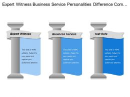 Expert Witness Business Service Personalities Difference Communication Problems