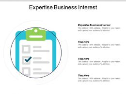 Expertise Business Interest Ppt Powerpoint Presentation Portfolio Model Cpb