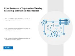 Expertise Center Of Organisation Showing Leadership And Business Best Practises