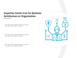 Expertise Centre Icon For Business Architecture Or Organisation