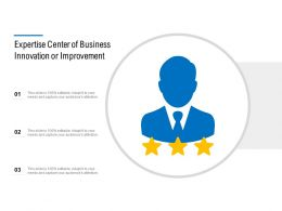 Expertise Centre Of Business Innovation Or Improvement