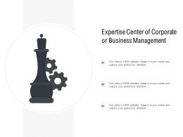 Expertise Centre Of Corporate Or Business Management