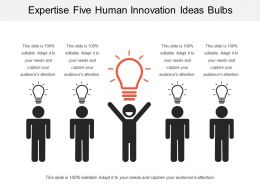 Expertise Five Human Innovation Ideas Bulb