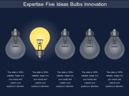 Expertise Five Ideas Bulbs Innovation