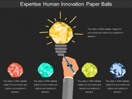 Expertise Human Innovation Paper Balls
