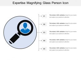 Expertise Magnifying Glass Person Icon