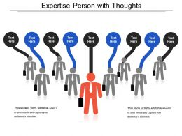 Expertise Person With Thoughts