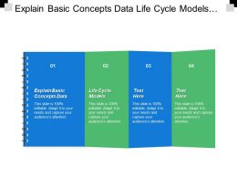 Explain Basic Concepts Data Life Cycle Models Process Product
