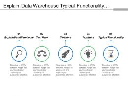 Explain Data Warehouse Typical Functionality Interpret Request Distinct Application
