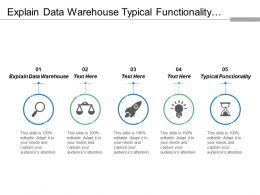 Explain Data Warehouse Typical Functionality Interpret Request Distinct Application