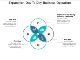 Explanation Day To Day Business Operations Ppt Powerpoint Presentation Professional Cpb
