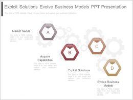 Exploit Solutions Evolve Business Models Ppt Presentation