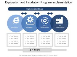 Exploration And Installation Program Implementation