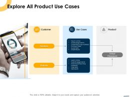 Explore All Product Use Cases Ppt Powerpoint Presentation Icon Graphics Tutorials