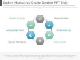 Explore Alternatives Decide Solution Ppt Slide